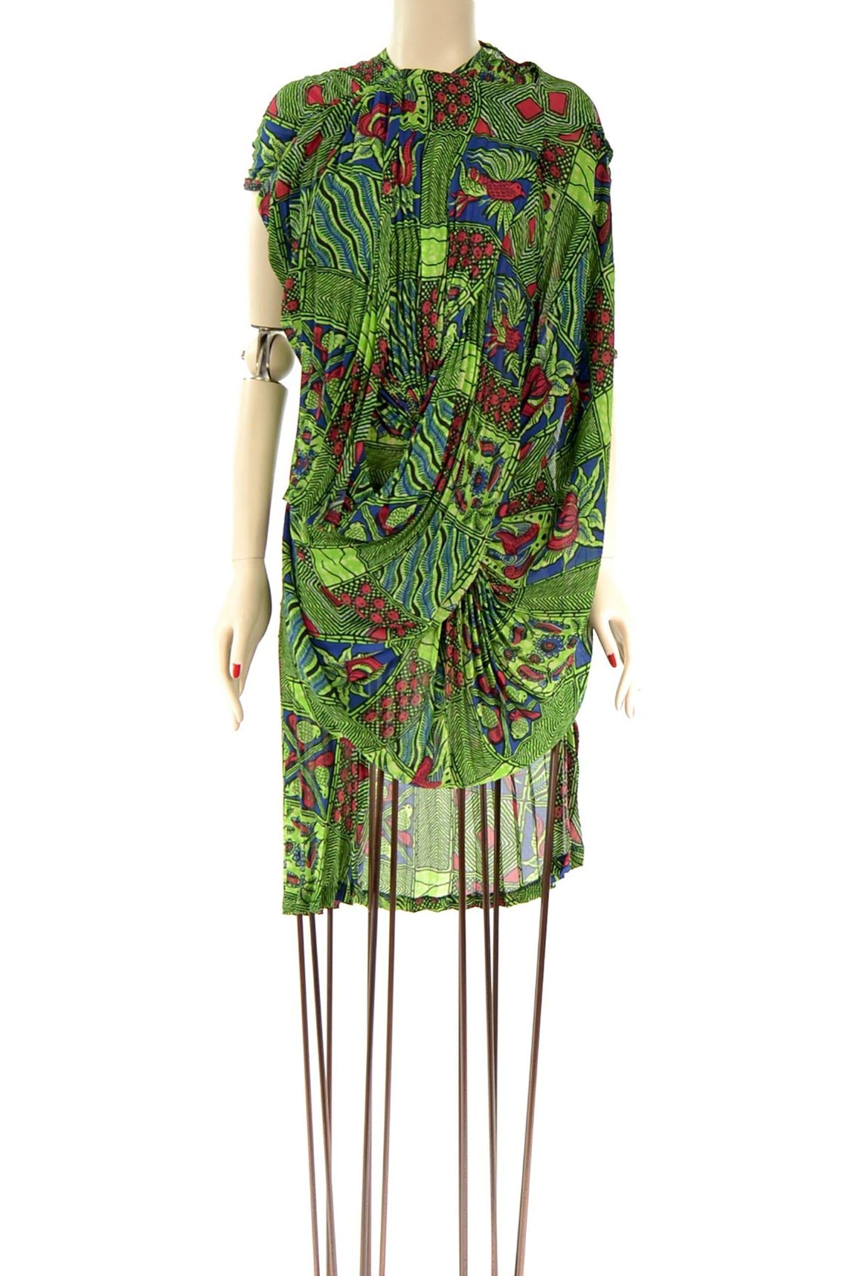 abito verde fantasia watanabe