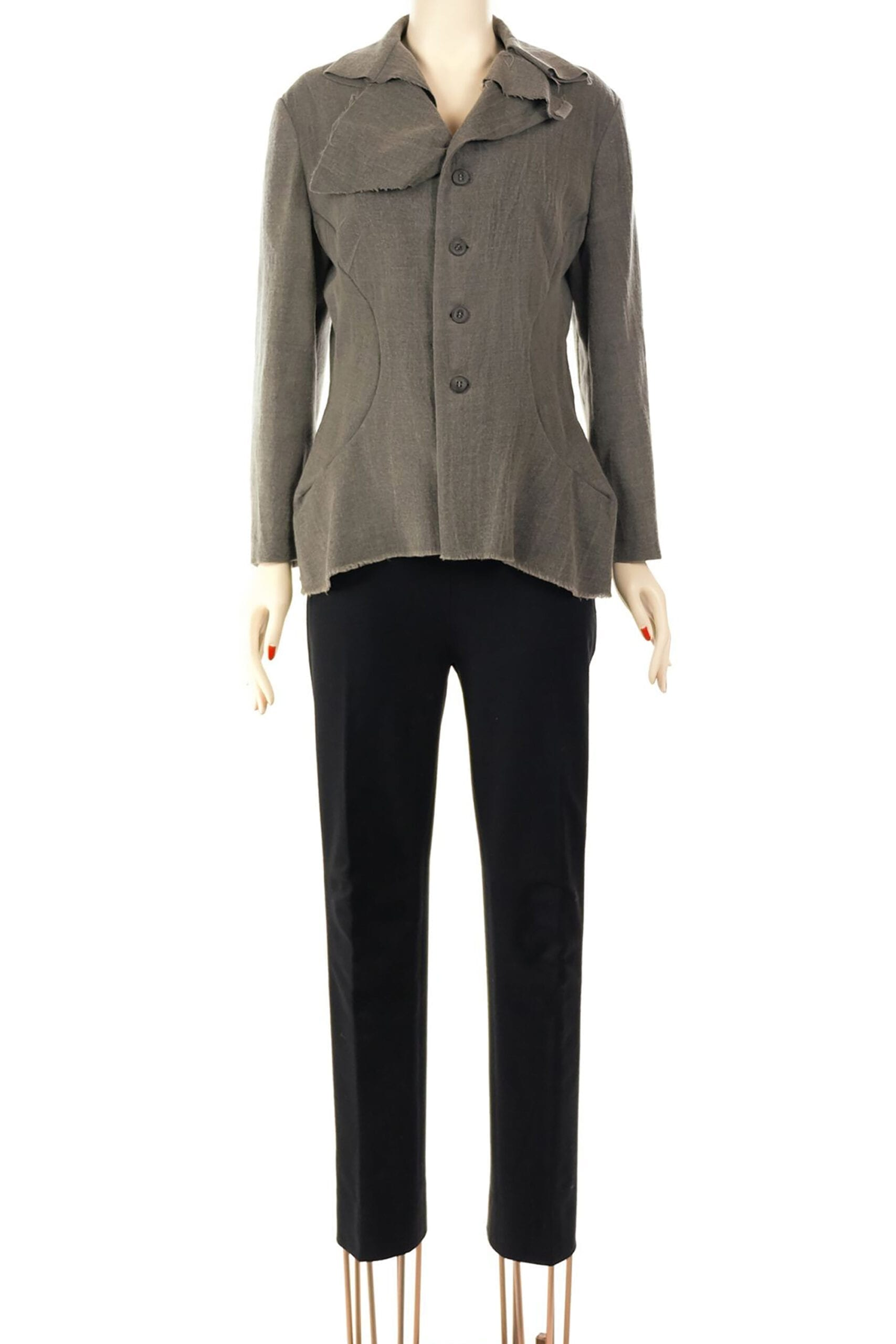 giacca grigia in lana di watanabe