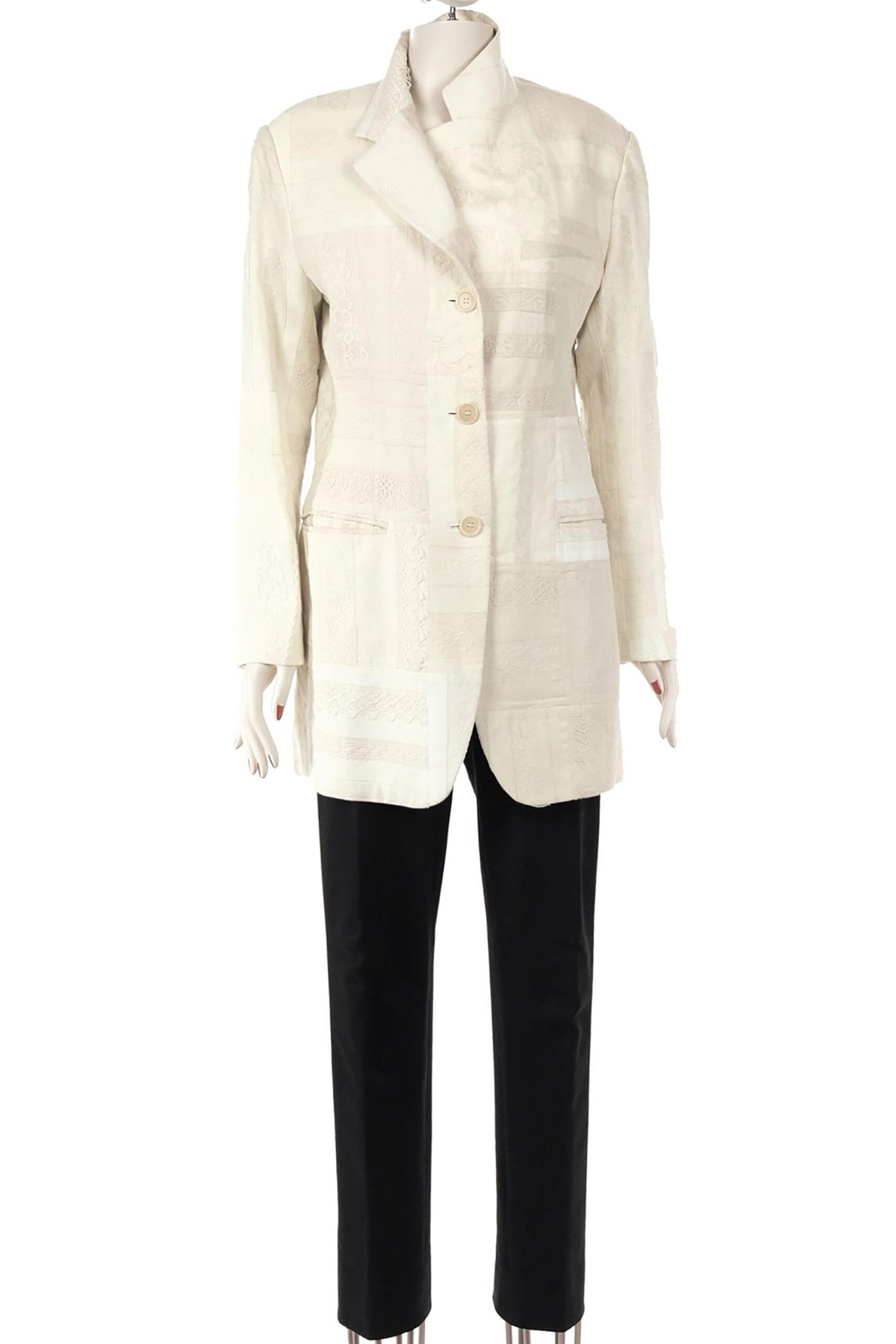 giacca bianca in pizzo dolce e gabbana