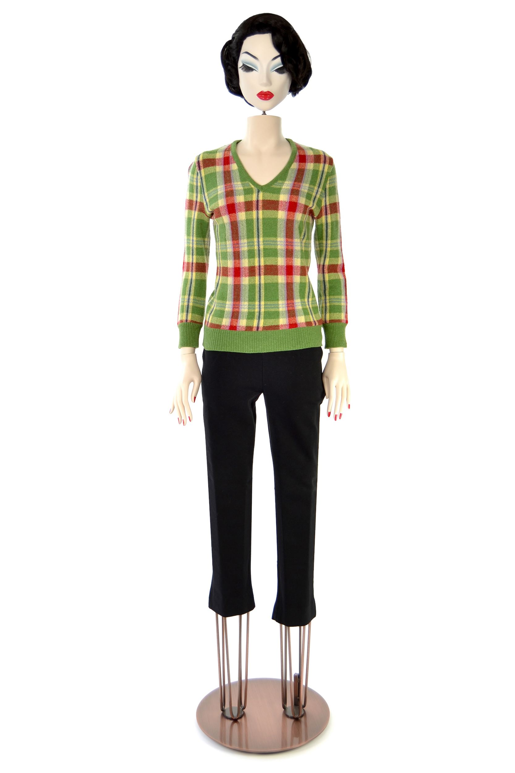 8591bd65e9 Wool and cashmere-blend checked sweater