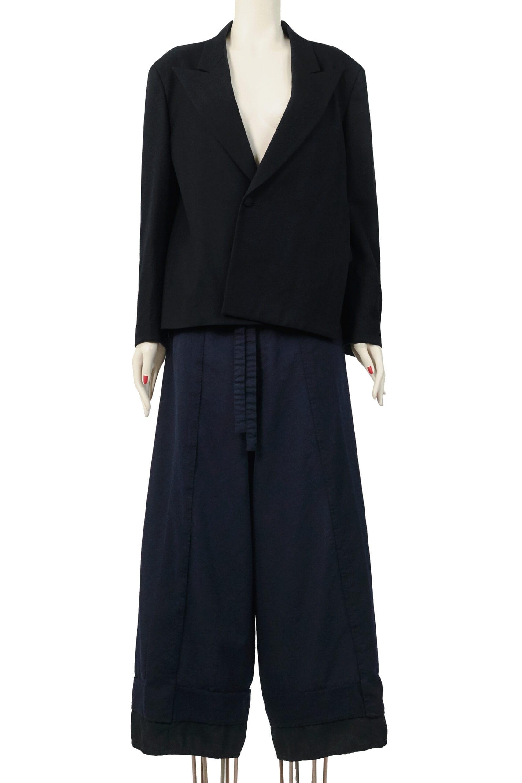 giacca nera yohji yamamoto
