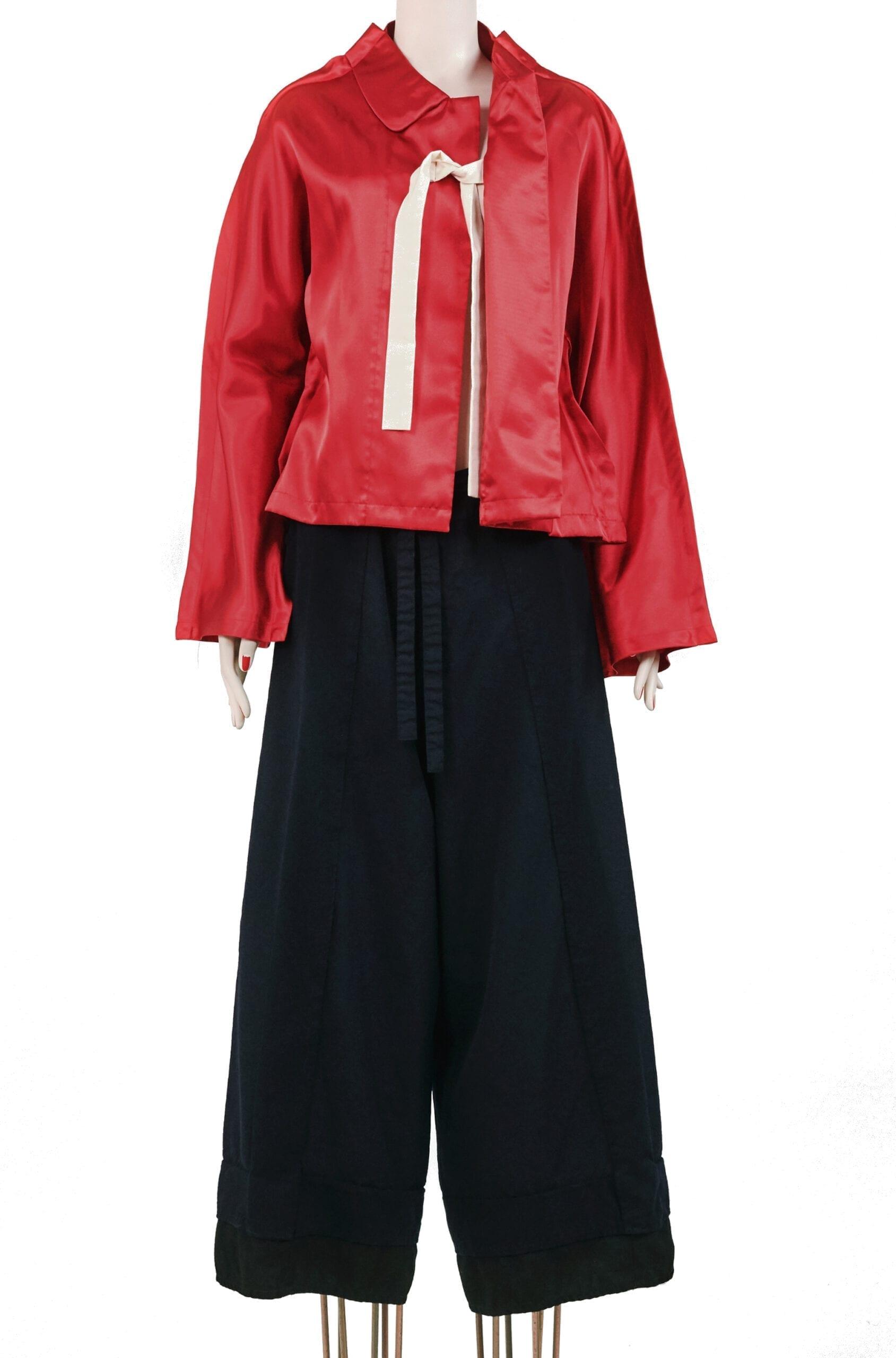 giacca raso rosso COMME DES GARÇONS