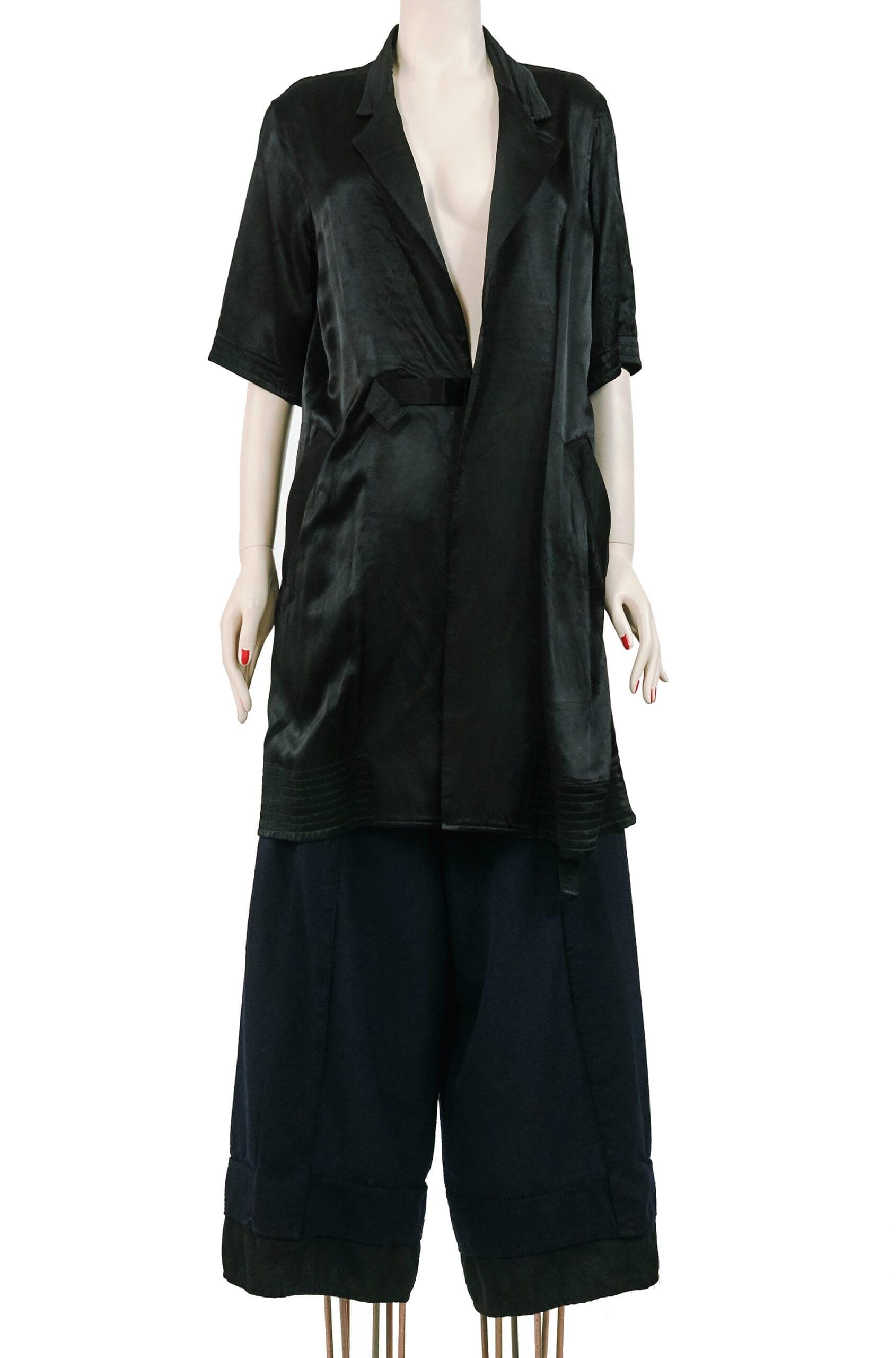 kimono raso nero yamamoto