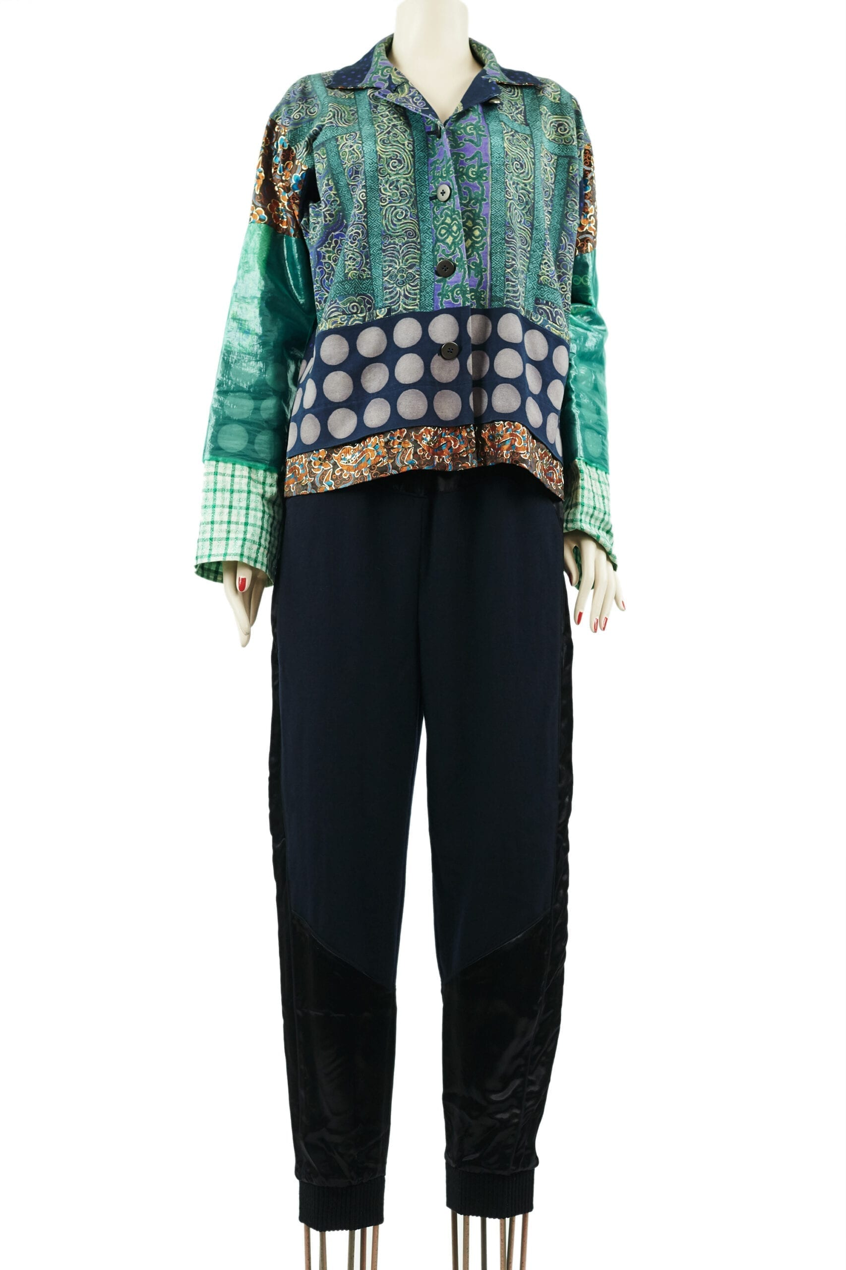 giacca patchwork miyake